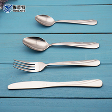 Delicate Stainless Steel Inox Cutlery set with Royal Wavy Handle