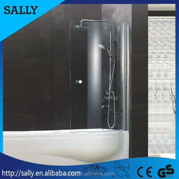 Superb Goods In Stock For Promotion Bathtub Screen 6mm Tempered Glass Easy Clean  Pivot Hinge Shower Door