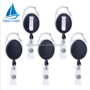 Retractable Badge Holder Carabiner Reel Clip Key Reel for ID Card Holders