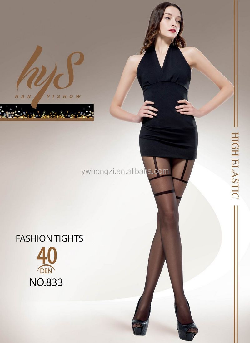 Obsession Leyla 20 Denier Hold Ups Sheer Back Seam Pattern Deep Lace Tops tights