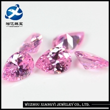 Names pink Cubic Zirconia gemstone pear cut CZ stone hot sale