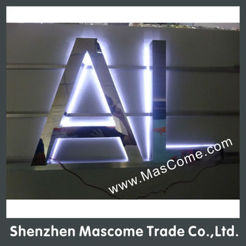 white led strip back light up signs with mirror surface and side buy custom led backlit signndecorative stainless steel lettersilluminated sign letters
