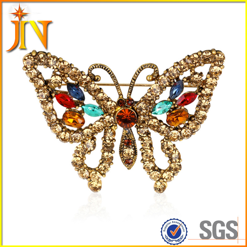 BH0062 New Jewelry Large Enamel Esmaltes Butterfly Brooches Corsage Hollow Brooch Scarf Pin Up Lot Wedding Broches for women