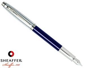 Sheaffer 100 Blue Translucent Fountain Pen Fine 9308-0F