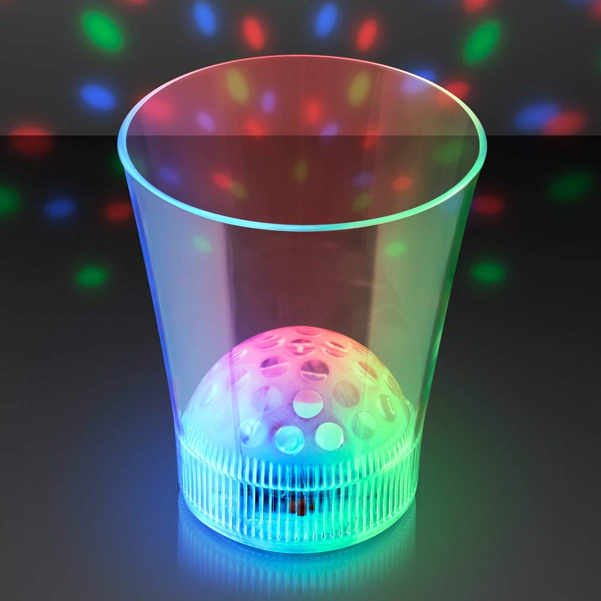Disco Ball Light Projecting LED Cup (Set of 4)