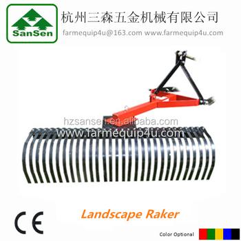 three point hitch mounted tractor land leveler landscape rake land