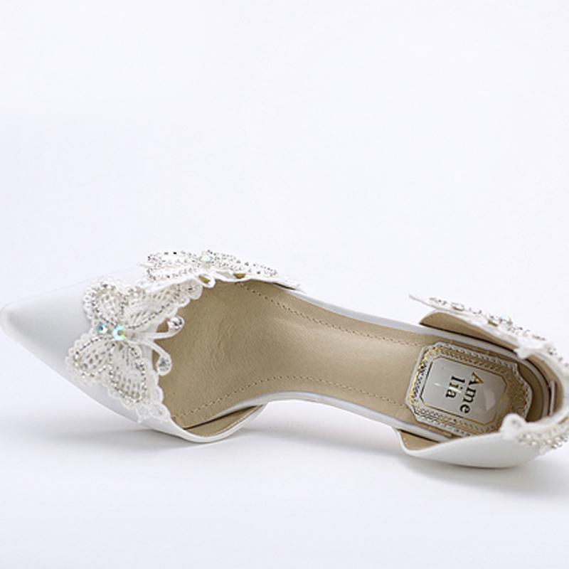 White Slingback Court Shoes