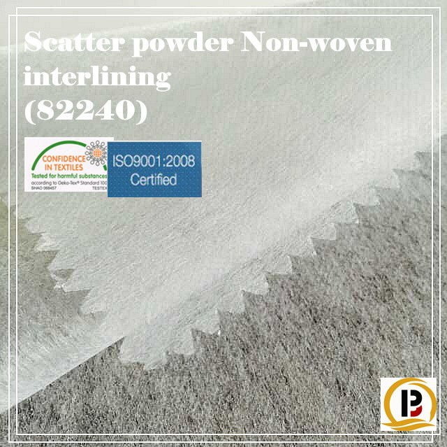 China wholesale Haining Banqiu Scatte powder Non woven garment fusible interlining fabric / adhesive non woven paper (#82240)