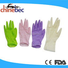 Non Sterile Examination Latex Gloves with Powder