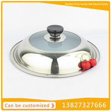Best selling products stainless steel tempered glass pot lid