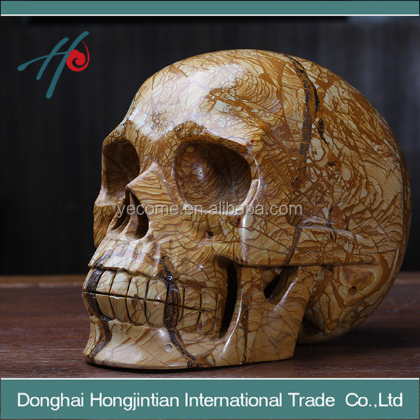 High quality crystal skull fossil wood skull for sale