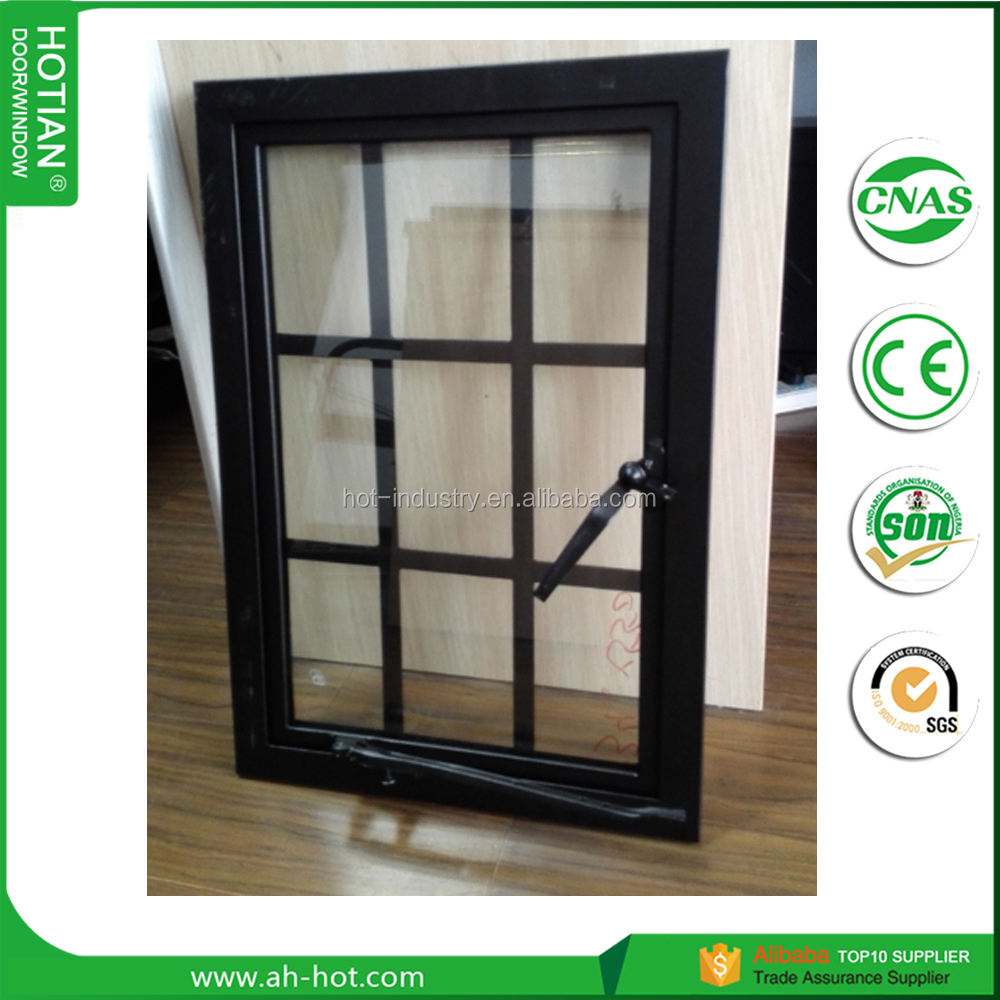 2017 top selling steel casement window steel frame with double 5mm tempered glass