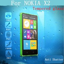 New 0.26mm Tempered Clear Screen Glass for Nokia X2 Premium Tempered Glass Protector Film with Clean Tool Free Shipping