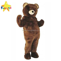 Funtoys CE Adult Brown Bear Mascot Costume for Party Halloween