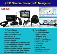 Free software tracking smart gps vehicle tracker with 4.3inch navigation screen