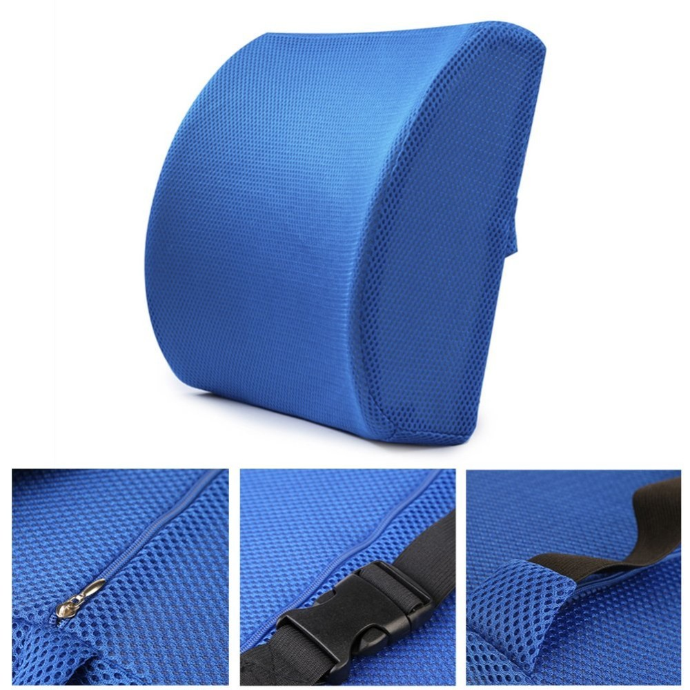 Lumbar support pillow memory foam chair cushion supports for Chair pillow