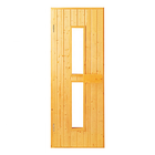 Alphasauna Sauna Glass Door Original Pine Wooden Frame With Tempered Glass