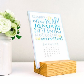 Wooden Card Holder, Desk Calendar With Wood Stand, Calendar Holder Pictures Gallery