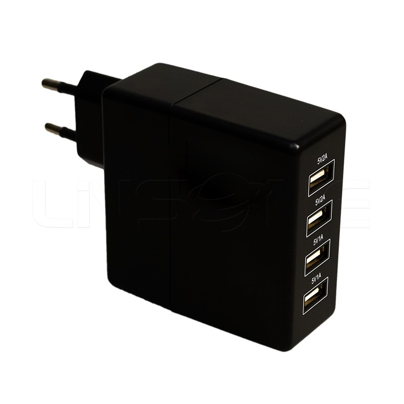 Fast 4 port usb wall charger for mobile phone 5v 2a