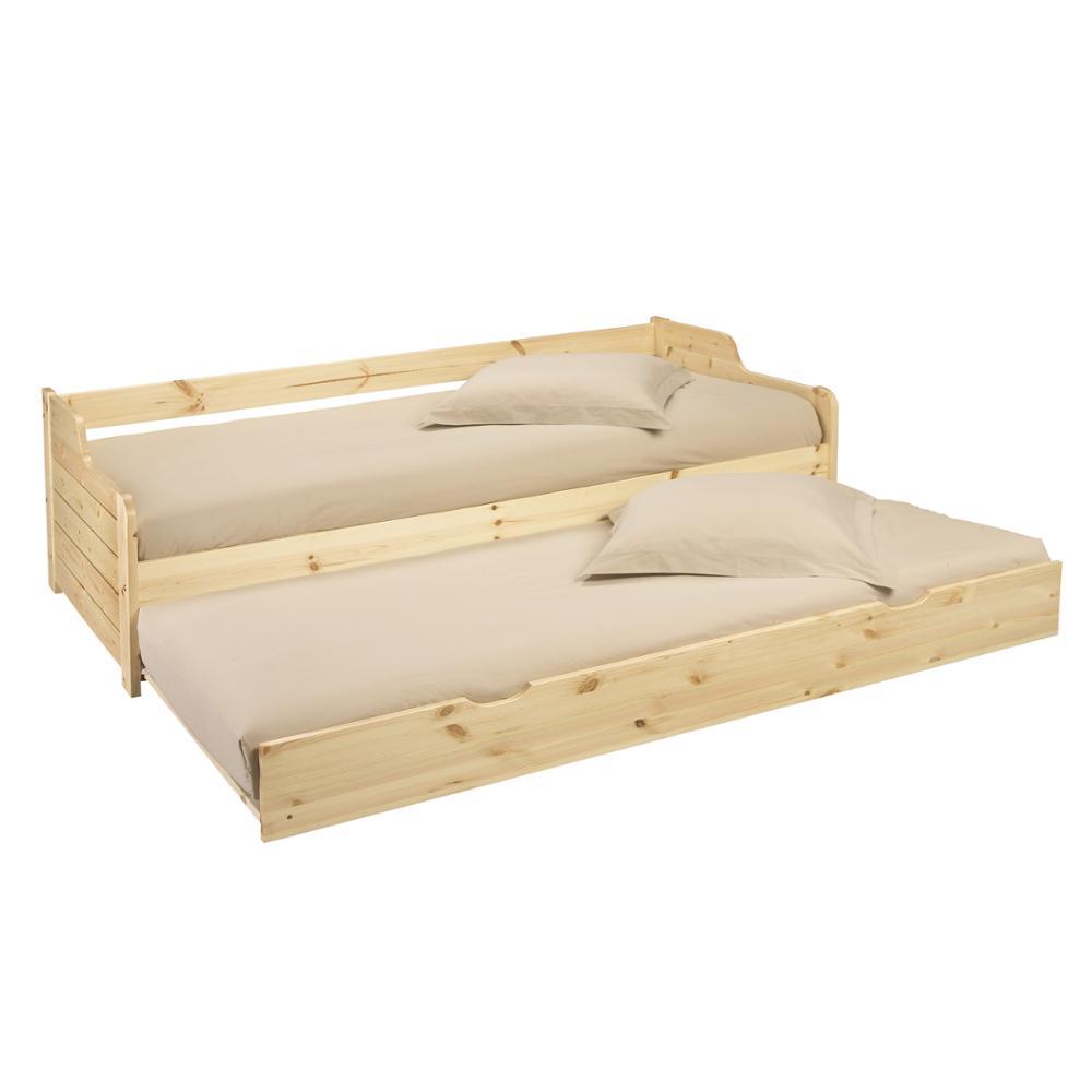Einzigen 3ft Tag Bett Weiß Rahmen Mit Trundle Massivholz Daybed Unterbett