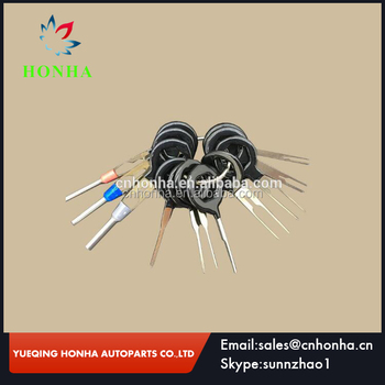 11 pcs auto car plug circuit board wire harness terminal extractor pick  connector crimp pin back