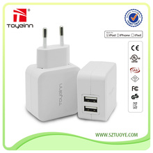 CE/KC/PES/CCC/UL Approved Daul USB 5V 2100MA 10.5W Smartphone USB Charger