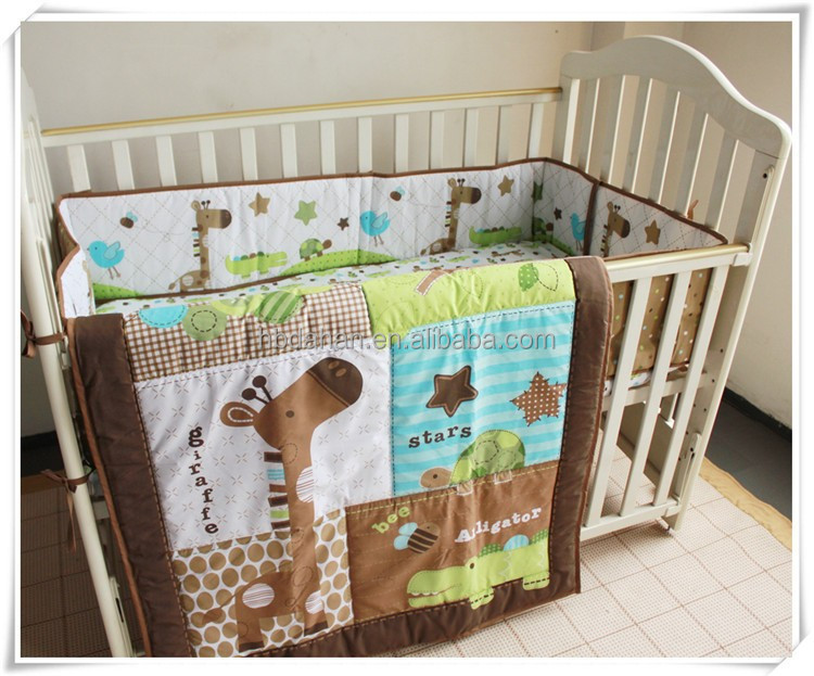 Giraffe 3pcs Newborn European Baby Bedding Set From Professional Manufacturer