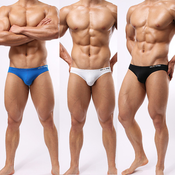 Free Shipping 2015 Hot Stylish Men s Swim Briefs Swimwear Swimsuit Fashion Solid Letter Printed Beachwear