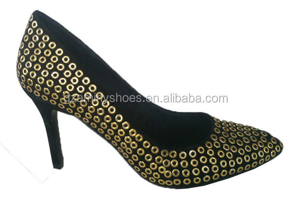 eyelets shoes Stiletto women with heel decorated shoes SCwTFqw