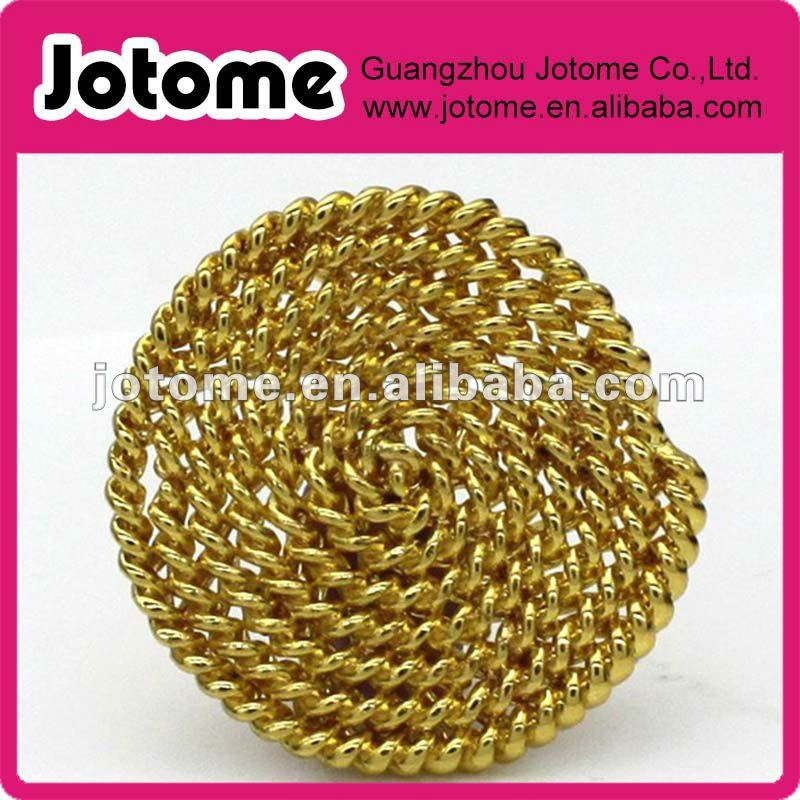 Vintage Decorative Gold plated zine alloy Button For coat