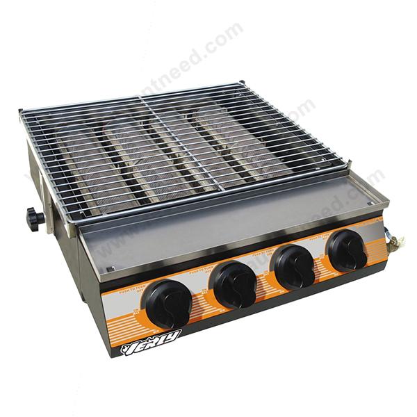 I Penjualan Berat Tugas Barbecue Panggangan Peralatan Dapur Gas Dengan 6 Besar Pembakar