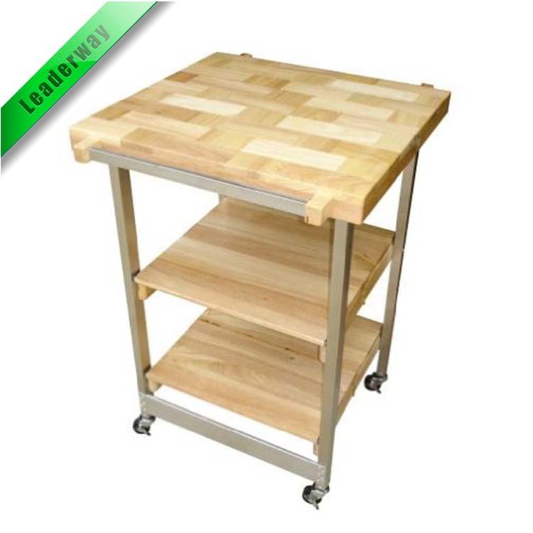 Pieghevole in legno da cucina carrello portatile da cucina isola--Id ...
