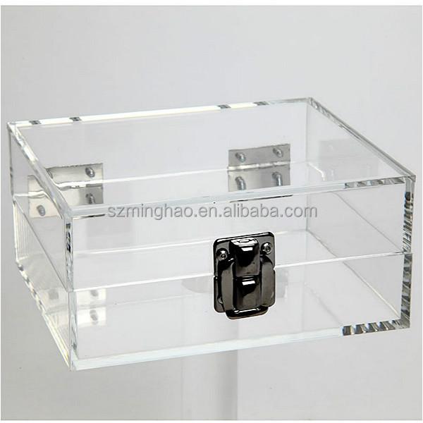 Clear Lockable Storage Box Acrylic Lockabke Storage Box