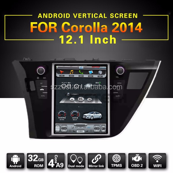 "Android PX3 Quad Core Cortex A9 12.1"" dvd car stereo , for toyota corolla multimedia navigation system%"
