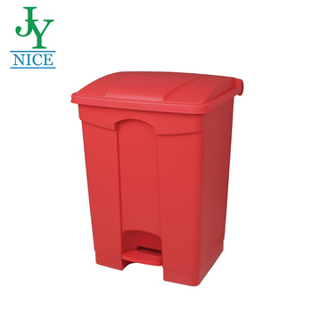 High Quality Plastic Garbage Trash Bin with lid Indoor Kitchen Using Waste Bin Outdoor Pedal Recycle Rubbish Bin