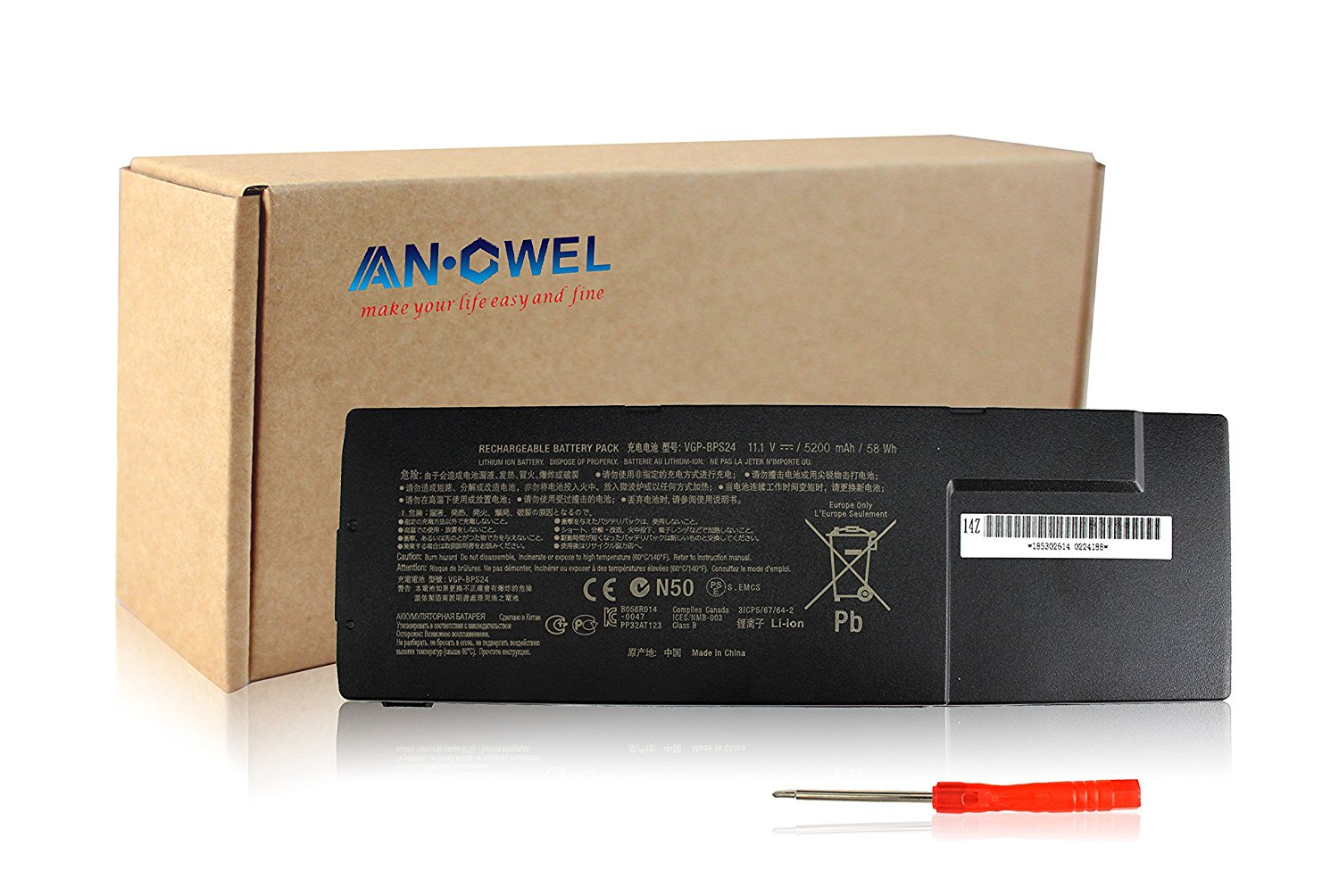 Angwel Laptop Battery Replacement for SONY VAIO SA Series VGP-BPS24 1 Year Warranty