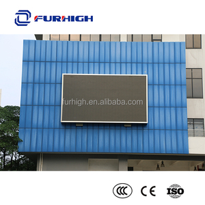 Wall fixed outdoor full color led display advertising screen board