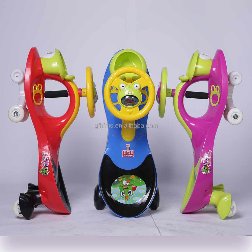PU Wheel Scentless Plastic Product Children's Toy Ride On Swing Twist Car