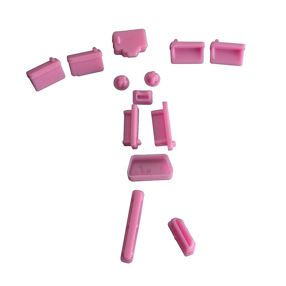 AGPtEK Pink 13pcs Silicone Anti Dust Port Plugs for Most Laptop Notebook,4 x USB plug/ 2 x Audio 3.5mm plug/ 1 x SD plug/ 1 x RJ45 plug/ 1 x 1394 plug/ 1 x HDMI plug/ 1 x VGA plug/ 1 x eSATA(A) plug/ 1 x eSATA(B) plug