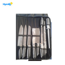 9pcs good quality hollow handle with black holes stainless steel kitchen knife set