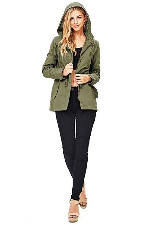 78c3b37922 Ambiance Women s Cargo Style Hoodie Jacket