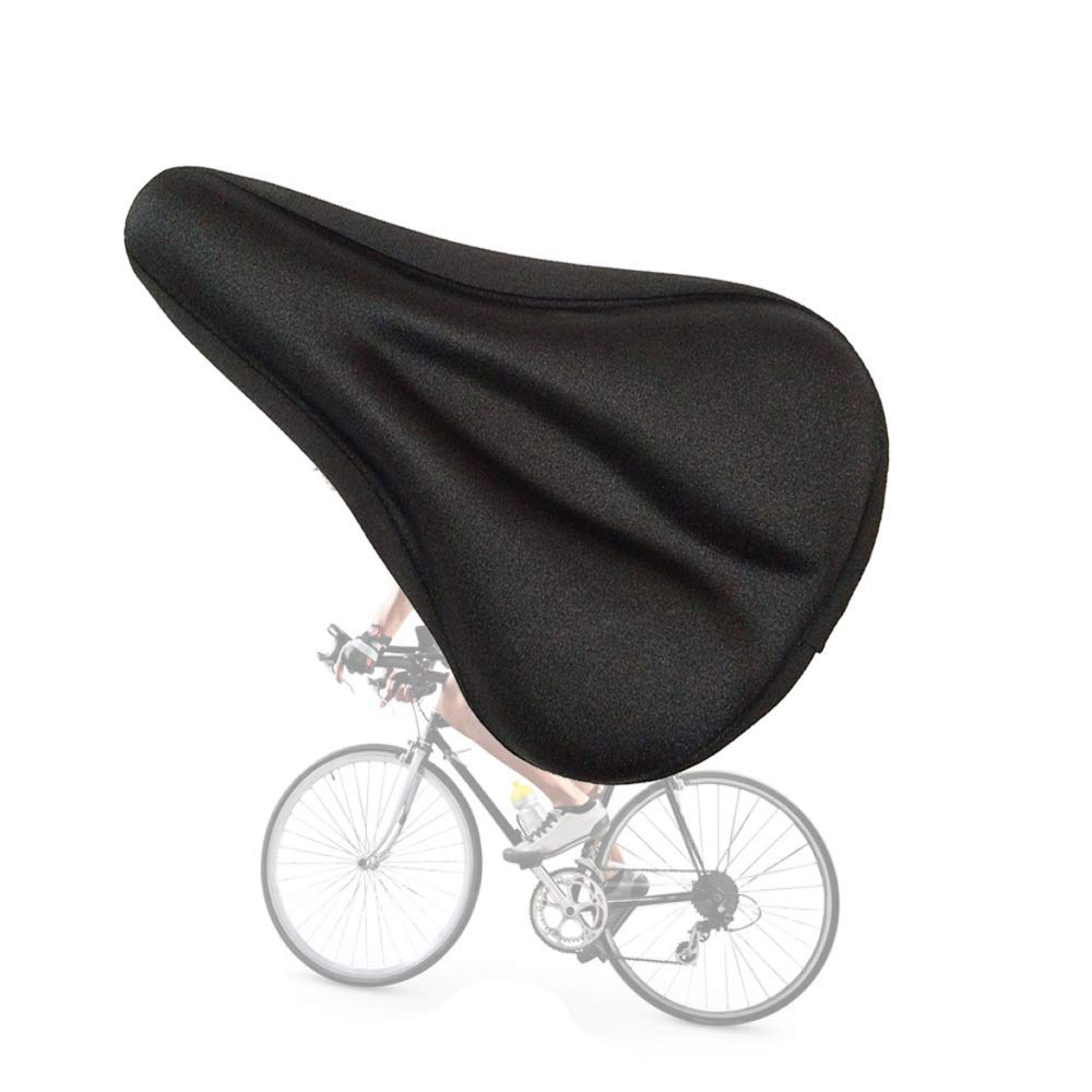 Gel Bike Saddle Cushion,Waterproof Cycling Bicycle Seat Cover,Anti Slip &Comfortable Cushions Padded for Women Men Children Kids Mountain Road Bike Outdoor Rider Cyclists,Sports Bike Accessories Seat