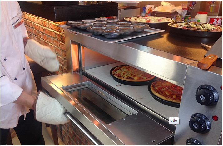 Double Deck Commercial Electric Pizza Oven Built In 304 Ss