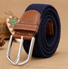 Customized Navy Bule Braided Elastic Belt Mens And Women Woven Rope Belts In Stock