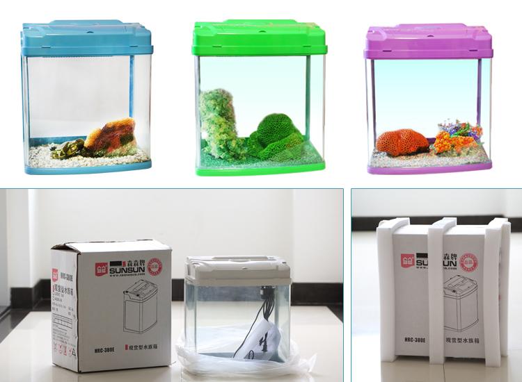 Whole Sale Ce Gs Sunsun Hrc 380e W Mini Glass Fish Bowl Desk
