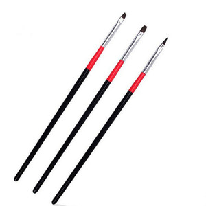 3Pcs Nail Art Brushes Flat Top Nail Gel Brushes Set
