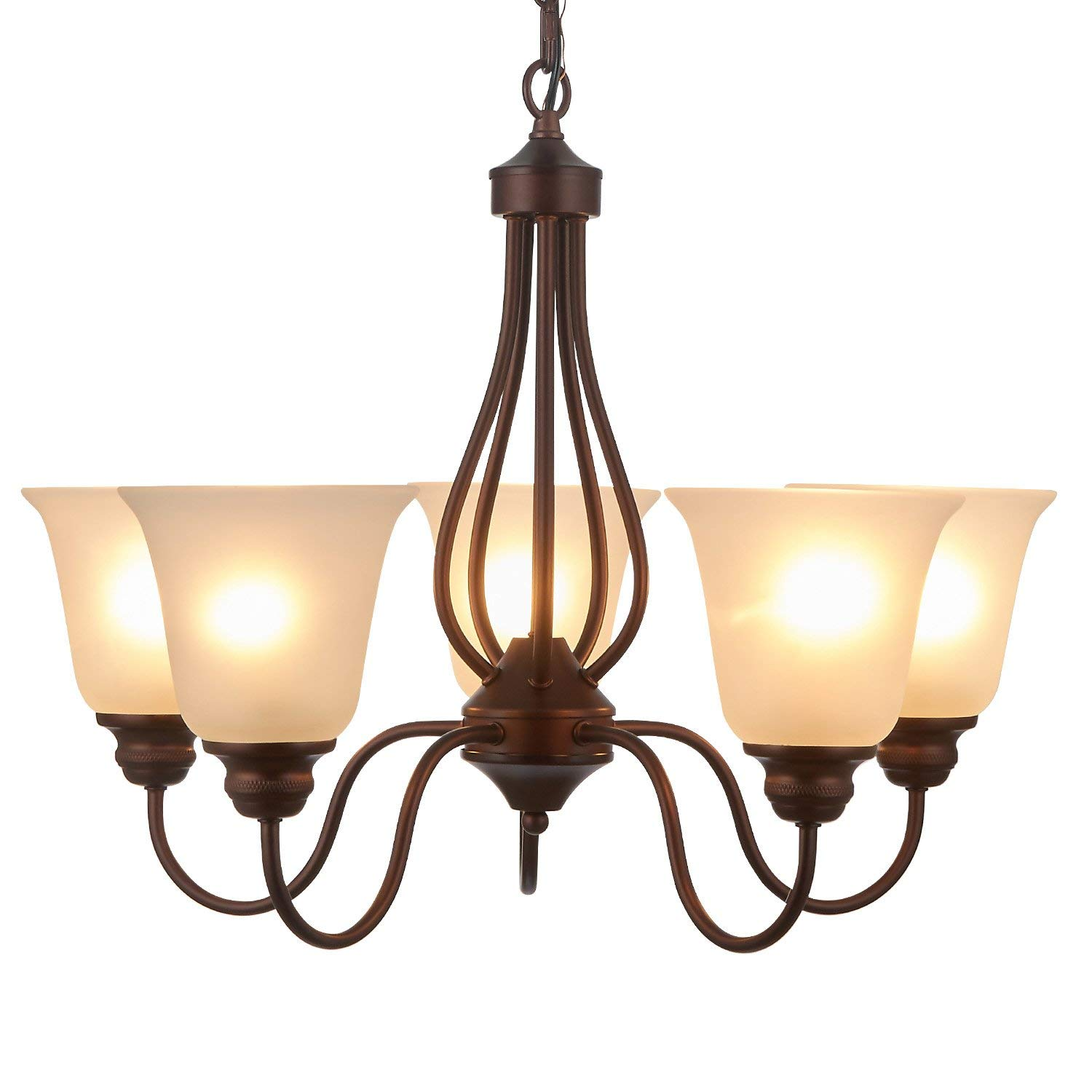 Get Quotations Doraimi 3 5 Light Chandelier Lighting Traditional Ceiling Fixture With Satin Etched Cased Opal