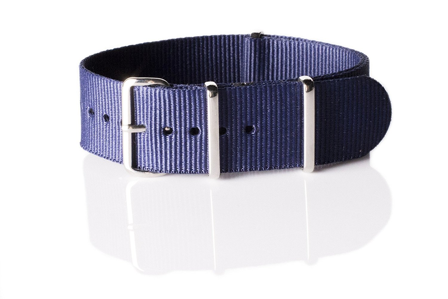 NATO G10 Nylon Premium Quality Replacement Watch Band Strap - 18mm / Navy Blue - FITS ALL WATCHES - (Military Army, J. Crew, Timex Weekender, Daniel Wellington, Urban Outfitters, Luminox, Seiko, Citizen, Blackout Watches, Victorinox Swiss Army, Rolex and more)