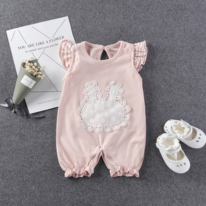 Plain cotton romper new born baby romper clothes boutique kids infant romper