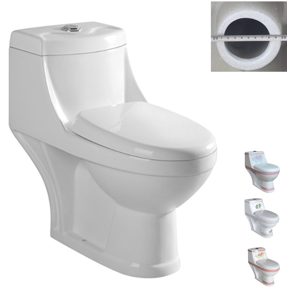 Washdown One Piece Bathroom Ceramic Saso Wc Toilet With Factory ...